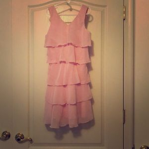 Pink multi tier dress pink candy